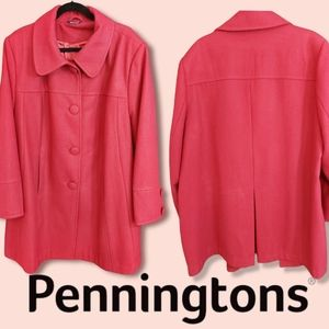 Penningtons Red Wool Coat